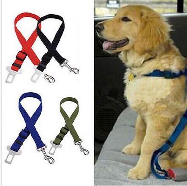best selling 500pcs New Dog Pet Car Safety Seat Belt Seat Clip Seatbelt Harness Restraint Lead Adjustable Leash Travel Collar