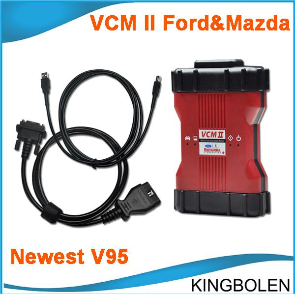 Newest V95 VCM II IDS Multilanguage Ford Mazda Diagnostic tool OBD II Diagnostic Tool VCM2 VCM 2 easy to install DHL Free Shipping