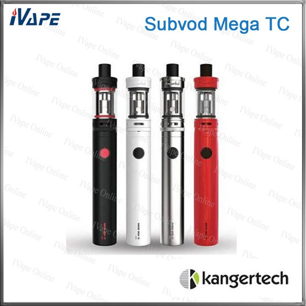 Kanger Subvod Mega TC Starter Kit 100% Original 4ml Toptank Mini Atomizer With 2300mah Subvod Mega TC Battery