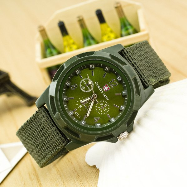 Free Shipping,new fashion Christmas Gift,Blue Color Military Army Pilot Fabric Strap Sports Men's Swiss Military Watch
