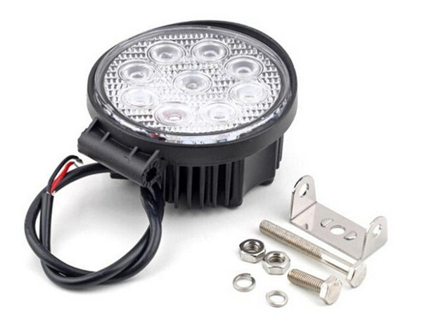 20pcs LED Work Light 4'' inch 27W 12V 24V Spot Flood Lamp for Motorcycle Tractor Truck Trailer SUV Off roads Boat 4WD 4X4