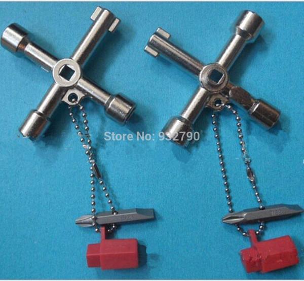 4 Way Utility Plumbing Plumbers Key Tool For Meter Box Gas Water Electric Service Tool Stop Cock Tap Radiators Cupboards Key