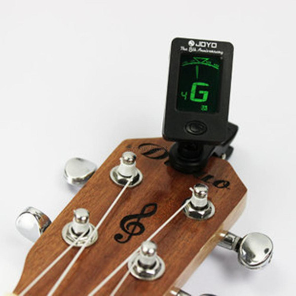 top popular Wholesale Chromatic Clip-On Digital Tuner For Acoustic Electric Guitar Bass Violin Ukulele Hot 2019