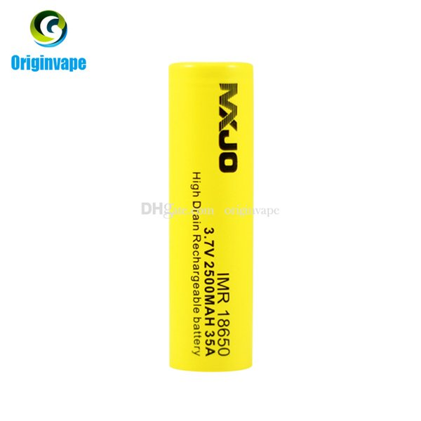 best selling Original 18650 Battery 2500mah 35A Discharge Rechargeable Lithium 18650 Batteries Using for VW VV BOX MOD Fedex Free Shipping