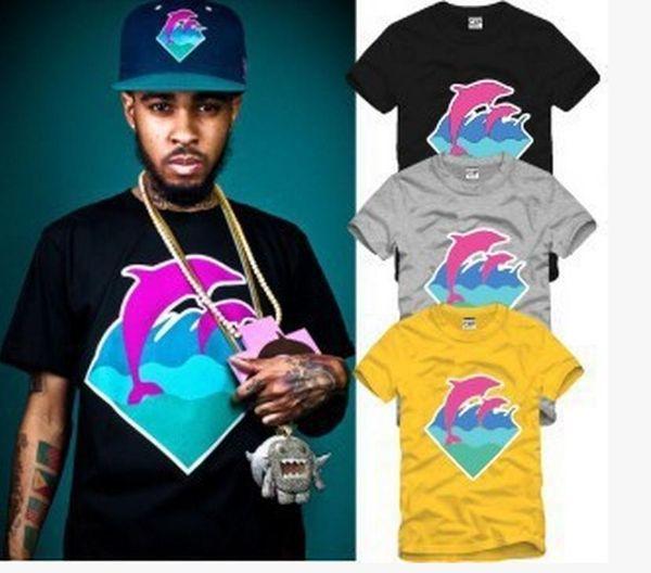 2016 hot fashion New t shirts man brand tshirts Men's Dolphin t-shirt,high quality hip hop style cotton