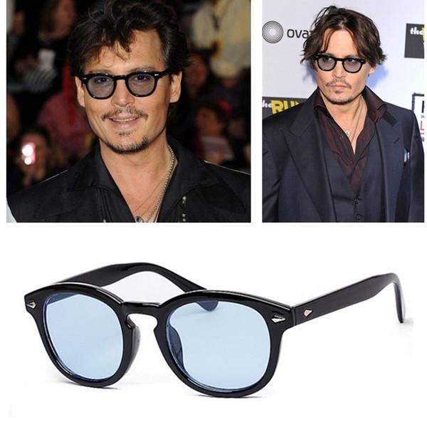 Al por mayor-Michellestore Nueva moda vintage Remaches Superestrella Johnny Depp Gafas de sol mujer hombre marca gafas de sol gafas retro gafas de sol