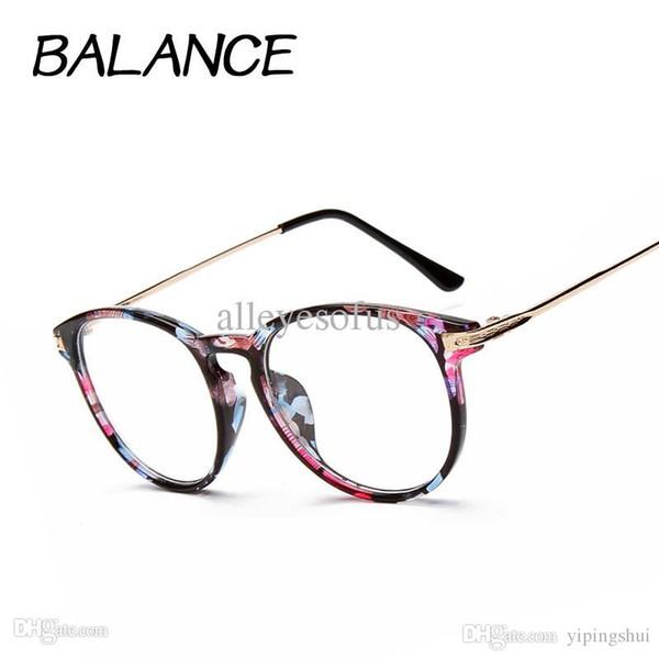 Óculos de leitura Retro Unisex oculos para maquiagem Metal pontos moldura  de lentes para mulheres Proteção fd56a77d9e