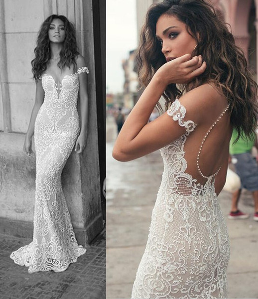 top popular Bohemian Lace Bridal Dresses with Sexy Vintage Full Lace Sexy Backless Sweep Train Julie Vino Bridal Gowns 2019