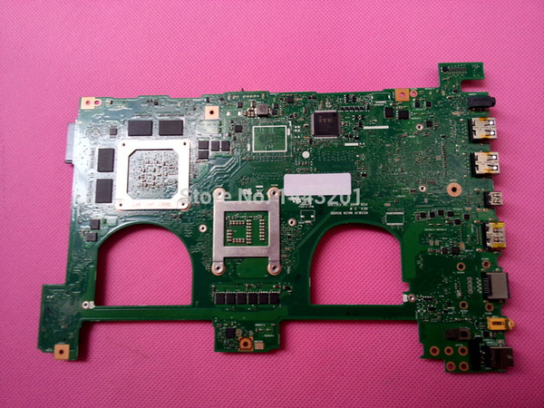 """best selling Wholesale-Fully Tested + warranty 45 days For ASUS N550JV Non-Integrated motherboard Mainboard with i7-4700HQ CPU 15.6""""Laptop"""