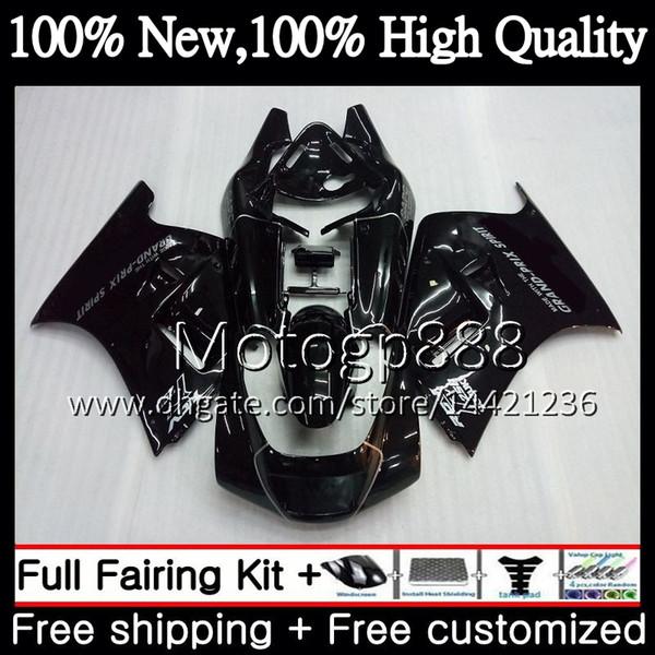 Gloss black Fairing Carrocería para SUZUKI RGV250 VJ22 90 91 92 93 94 95 96 38PG16 RGV-250 VJ 22 RGV 250 1990 1991 1992 1993 1994 1995 1996