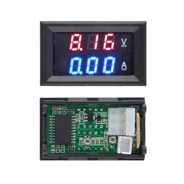 1pcs Hot Worldwide DC 100V 10A Voltmeter Ammeter Blue + Red LED Amp Dual Digital Volt Meter Gauge free shgipping