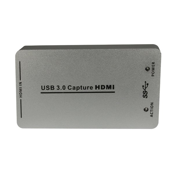 Freeshipping 1080P/60fps HDMI to USB 3.0 USB 2.0 Video Capture Dongle Box Support UVC UAC HDCP for Window, Linux, Mac OS X