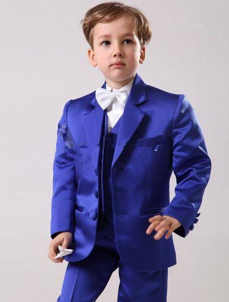 Boy's Formal Wear 2016 Handsome Custom Made Size and Color Children Boy Wedding Suit Boys' Formal (Jacket+Pants+Tie+Waistcoat)
