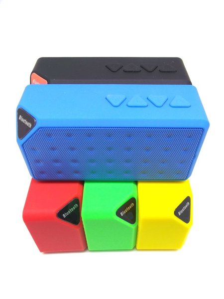 X3 Mini Portable Wireless Bluetooth Speaker TF Card FM Radio Subwoofer Bass Music MP3 Player with MIC Handfree for iPhone 6 Plus S5 US06