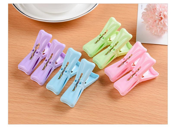 Durable 12PCS Heavy Duty Clothes Pegs Plastic Hangers Racks Clothespins Laundry Clothes Pins Color Hanging Pegs Clips