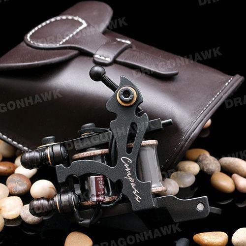 Compass Tattoo Machine Plata Liner Steel Frame Copper Coils WVQ2066-1