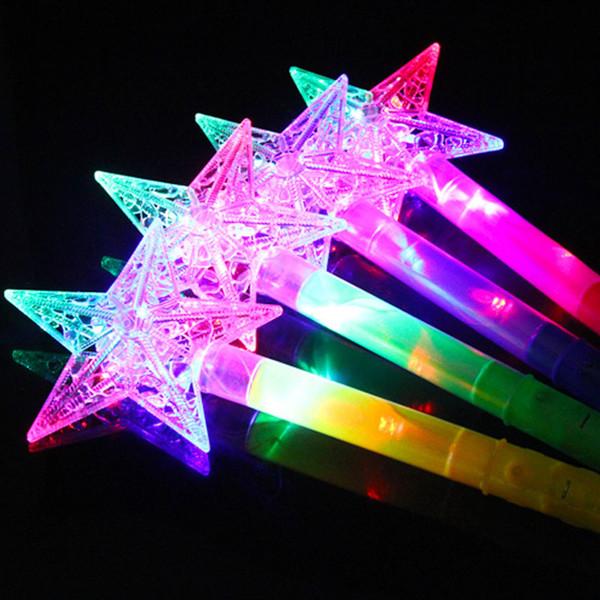 2017 Hot Sale LED Toys Christmas Kids Gift Fairy Flash Wand Magic Flashing Light Up Glow Stick DHL Free shipping