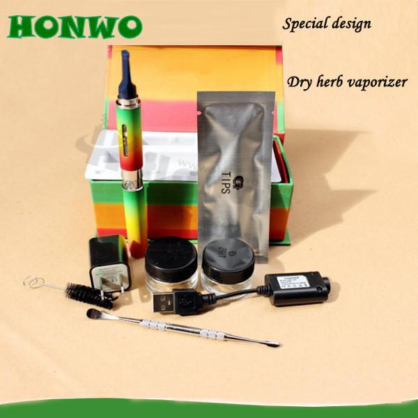 Wholesale-2015 New Dry Vaporizer Pen E cigarette Best Quality Cigarro Eletronico Vaporizador Herbal Tank Electronic Cigarette Kit