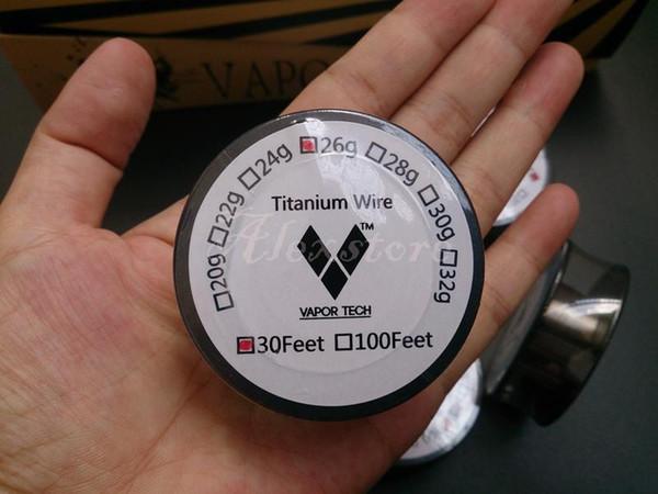 VaporTech titânio aquecimento por resistência eléctrica do fio 30 AWG pés 26 28 30 Calibre bobina para TEMP Controlo TC Caixa modificação RBA RDA Ecig retalho