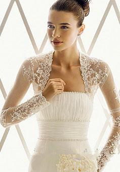 best selling Hot Sale New Fashion Sheer Long Sleeve Lace Bridal Jackets for Wedding Ladies Jackets Bridal Accessories
