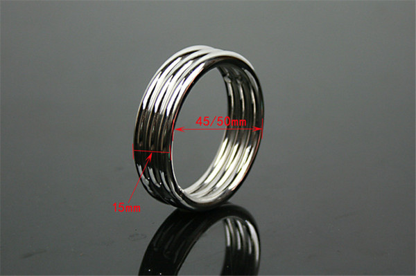 Penis Ring Cock Ring Cockring For Men Male Sex Products Sex Toys Adult Game Belt Lock Dick 45 50mm Stainless Steel 2015 new