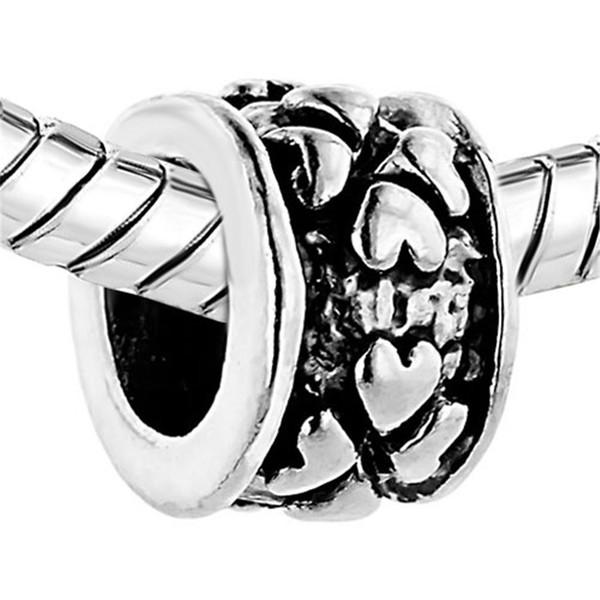 10pcs per lot Valentine's Day Four Leaf Clover Heart Love Charm European bead Fit Pandora Chamilia Biagi Bracelet