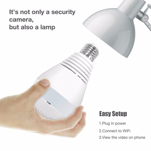 1080P HD Wireless IP Camera Fisheye Panoramic Surveillance Security Camera Wifi Night vision Bulb Lamp CCTV Camera P2P VR Cam