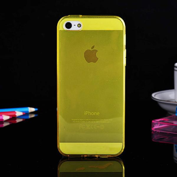 Soft Slim Transparent Clear Tpu Case For iPhone 5 5s Multi color Slim Crystal Clear Rubber Case With Anti Dust Plug 100pcs/lot