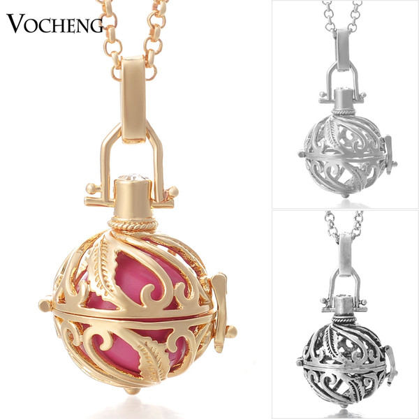 VOCHENG Chime Harmony 3 Colors Copper Metal Engelsrufer Pregnancy Ball in Pendants with Stainless Steel Chain VA-027