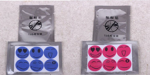 top popular Free shipping In Stock Disposable Mosquito Repellent Sticker for baby and pregnant women,Mosquito Repellent Bracelet Patch 6 pieces bag 2019