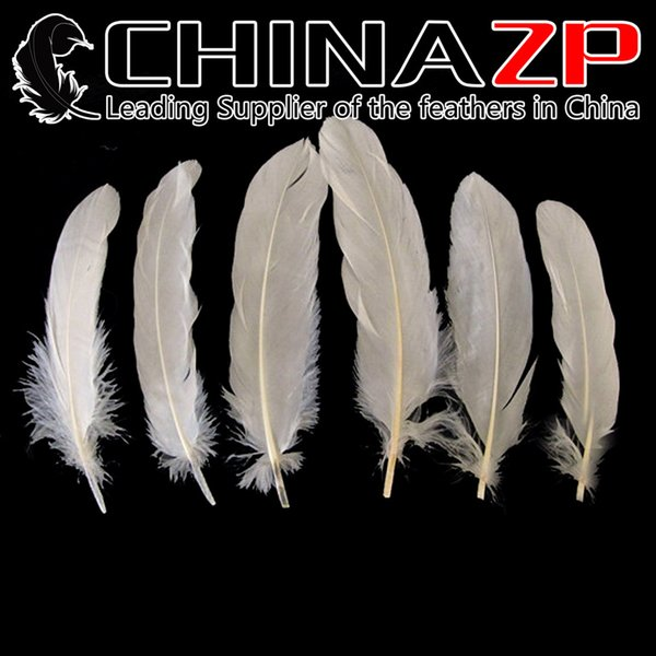 Leading Supplier CHINAZP Crafts Factory Length 10~15cm(4~6inch) Cheap Good Quality Fantastic Decorative Dyed Ivory Goose Wing Feathers