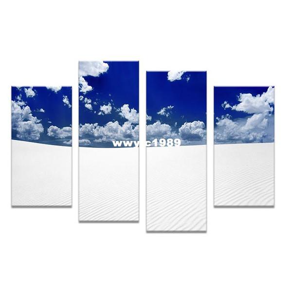 4PC Large HD blue cloud Top-rated Pittura murale stampa su tela per idee arredamento casa vernici su quadri murali arte No incorniciato