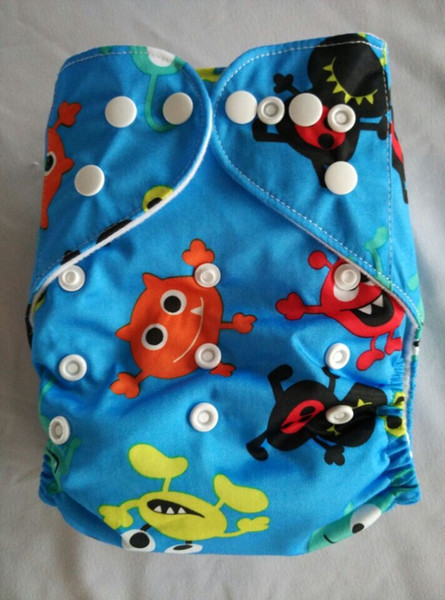 top popular 2016 New Printed Diapers Print Baby Nappies Prints Modern Kid Cloth Diapers With Insert 23 color you can choosen 2021