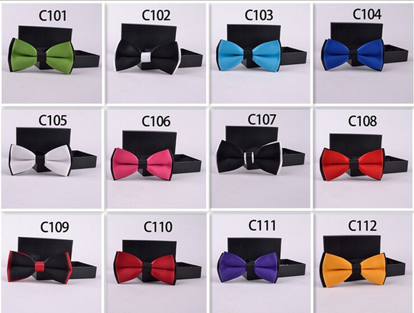 top popular Men's Bow Ties Solid Color Plain Satin Skinny Ties Groom Necktie Silk Jacquard Woven Tie In Stock 2020