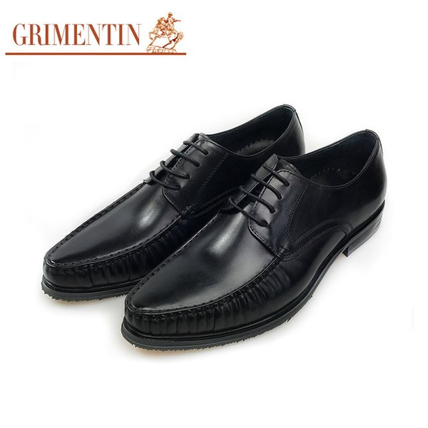 GRIMENTIN Hot sale black mens oxford shoes Italian brand men dress shoes 100% genuine leather fashion formal business wedding male shoes