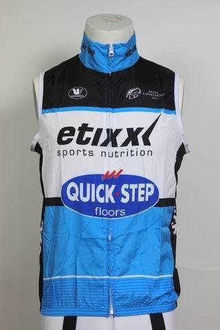 2015 ETIXX QUICK STEP PRO TEAM BLUE Cycling Windproof Vest Ciclismo Clothing Sleeveless Maillot XS-4XL