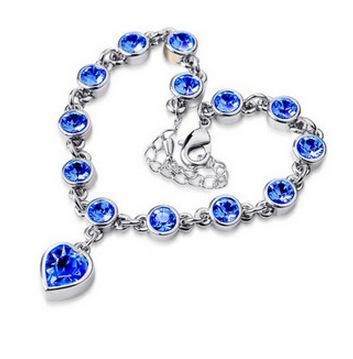 Silber + blau