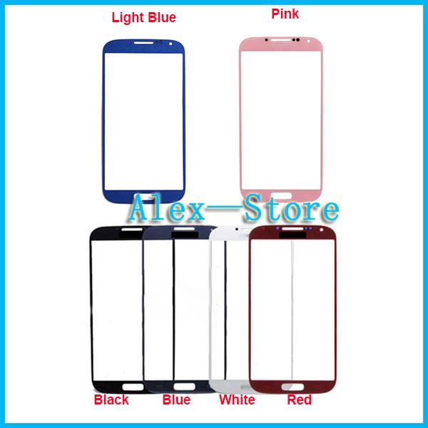 For S4 i9500 Outer Front Glass Lens Screen Digitizer Touch Screen Cover touch panel screen Glass For Samsung Galaxy S4 I9500