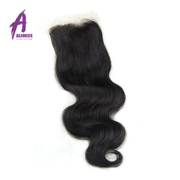 Hot Sale 7a Indian Body Wave Closure Unprocessed Virgin Indian Body Wave Closure Silk Base Body Wave Closure Free Shipping