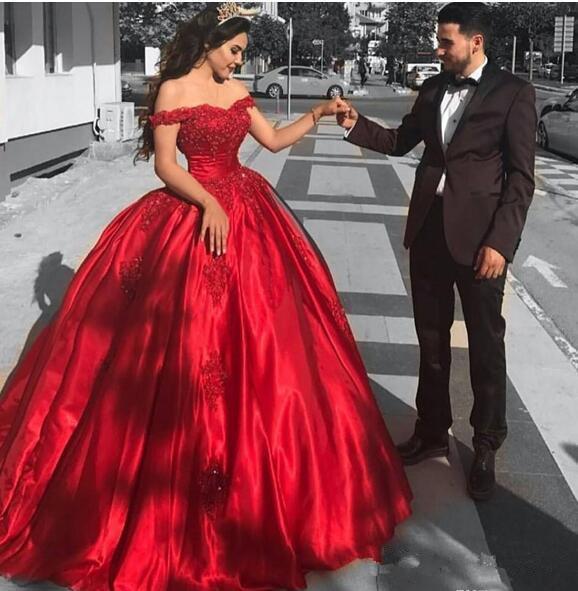 Großhandel Einfaches Preiswertes Rotes Preiswertes Quinceanera Kleid ...