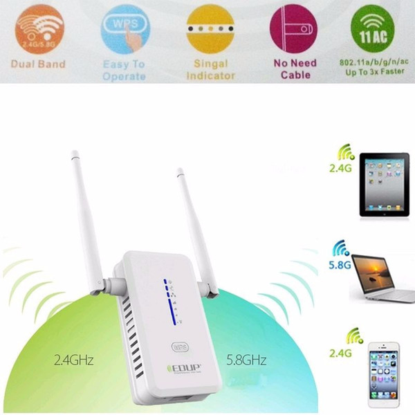 750Mbps AC750 Dual Band Wireless Wifi Router Repeater Extender Booster 802.11AC 2.4G 5G Networking WPS AP WI-fi Antenna