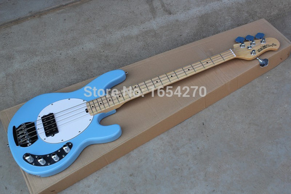 Free Shipping Ernie Ball Musicman Music Man Sting Ray 4 Strings Blue Active Pickup Electric Bass Guitar In Stock 151101