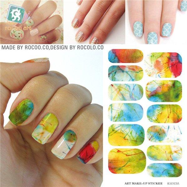 Wholesale Minx Nail Water Nail Stickers Tips Transfer Foil Harajuku ...