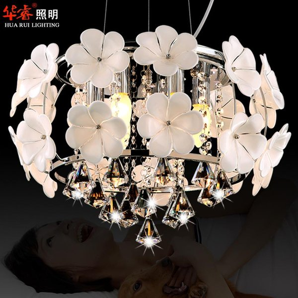 Hot Sale Handmade Glass Flower Chandelier Light Pendant Lamp Crystal Dining Room Lighting Fashion Hanging Lamps