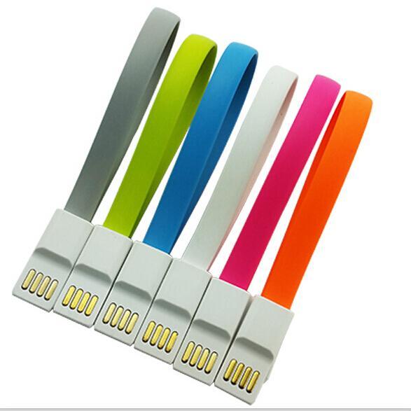 22CM Magnet Flat Short Cavo Micro USB Caricabatterie Cavo corto per Samsung S7 S6 bordo HTC LG universale