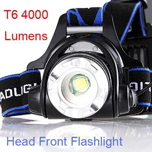 HOT SELLING Bicycle Head Front Headlamp T6 4000 Lumens LED Zoomable Head Torch Climbing Light Front Night Cycling LED Flashlight