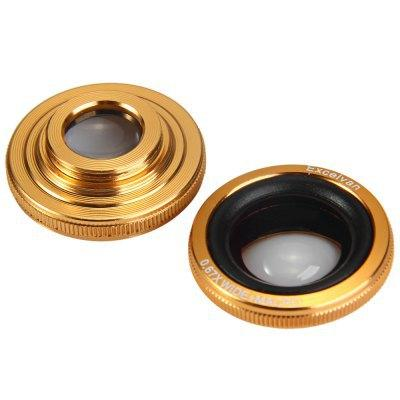 Wholesale-Practical 4in1 Cat Design Clamp Camera Lens With Telephoto Fisheye Macro and Wide Angle For iOS and Andriod Smart Phone Golden