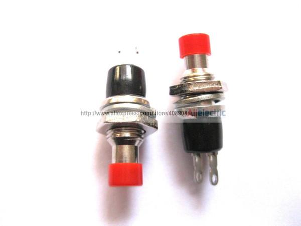 40 Pcs SPST Mini Push Momentary Switch Red Cap 250V 3A 125V 6A Nomal Off