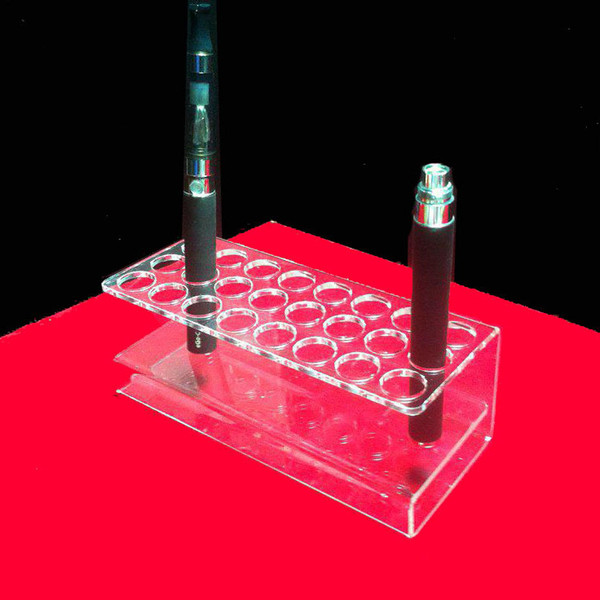 top popular Transparent Acrylic Atomizers Display Stand e-liquid Holder ego Ecig Pen Display Stand 2021