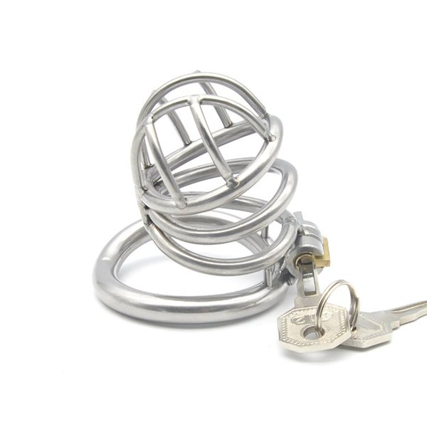 304 stainless steel Cock Cage Male Chastity Device with curved ring lock Sex Toys for men XCXA226-1